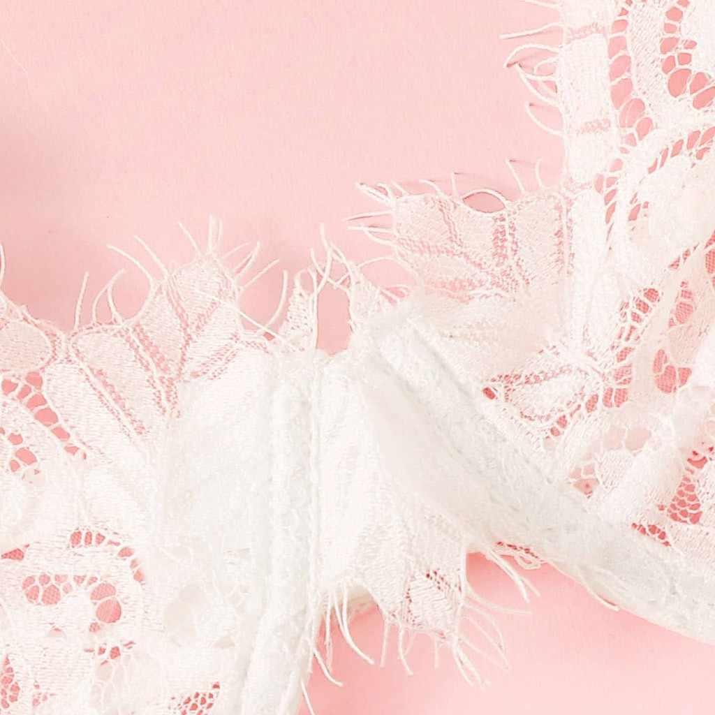 Сексуальное женское Эротическое белье милый Бандаж Нижнее белье прозрачный бюстгальтер с вышивкой кружевной открытый промежность g-стринги подвязка пояс Набор