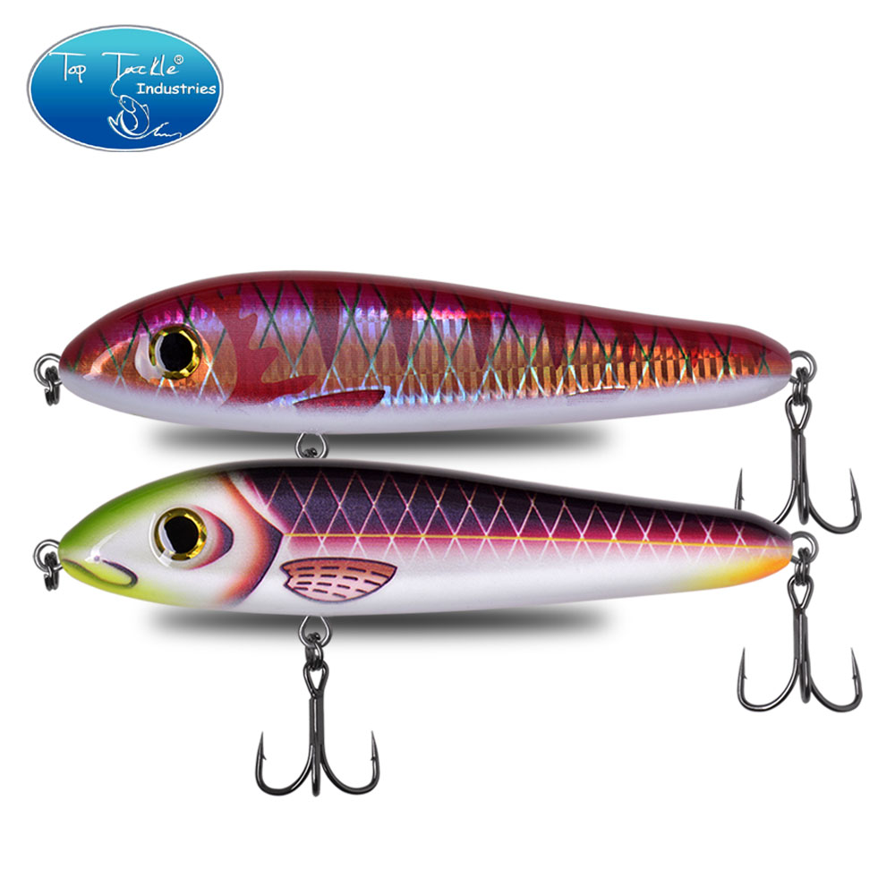 <font><b>180mm</b></font> 113g Lipless Vibration Sinking Rattle JerkBait Dying Fish For Pike Fishing <font><b>Lure</b></font> Bait With Strengthen 2/0# Hooks image