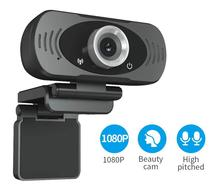 FEISDA Mini webcam 1080P microcomputer PC webcam built-in dual microphone voice smart USB camera Pro desktop