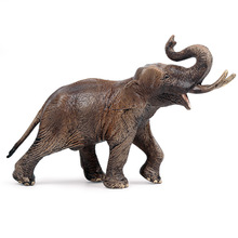 Childrens Solid Simulation Wildlife World Elephant Model Toys African Zoo Icon Decoration
