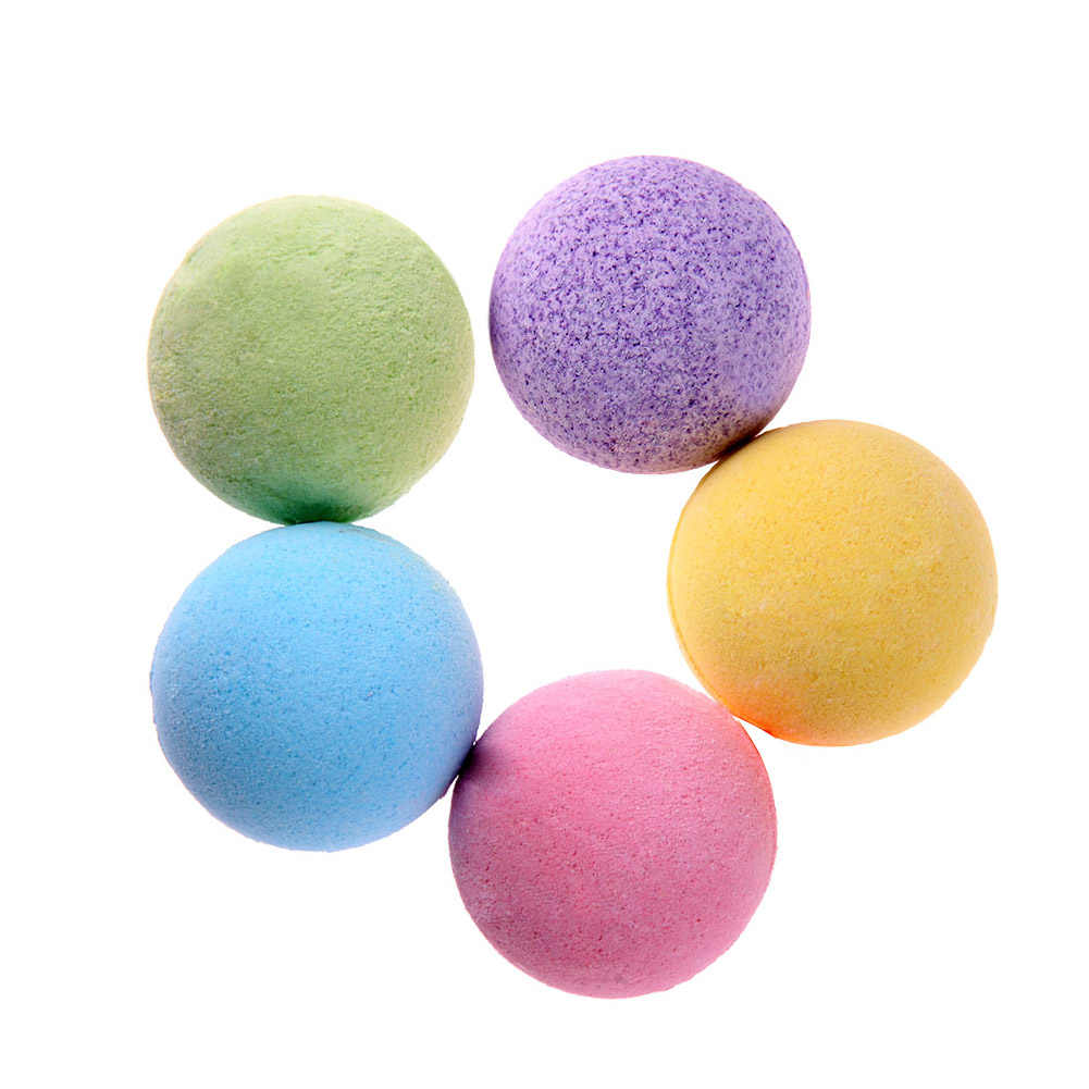 เกลืออาบน้ำผิว Whitening Ease ผ่อนคลายความเครียดบรรเทาธรรมชาติ Bubble Shower Bombs Ball ทำความสะอาด Essential น้ำมันสปา