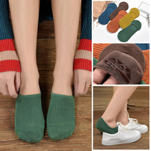 5 Pairs/Lot Socks Women No show Women Socks Cotton Low Cut Invisible Liner White Black slippers low cut ped funny socks kawai stripes design fashion style men s low cut ped socks in white