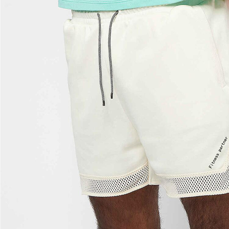 Summer  Men's Sports Fitness Quick-drying Splicing Mesh Running Shorts Gyms Fitness Outdoor Basketball Training Jogging Shorts