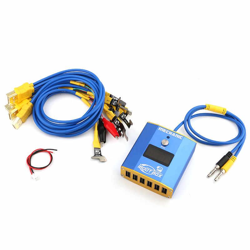 كابل إمداد الطاقة آيفون 6/6 P/6 S/6SP/7/7 P/8/8 P/X/XR/Xs ماكس التمهيد خط اللوحة إصلاح سلك اختبار خط ميكانيكي iBoot صندوق