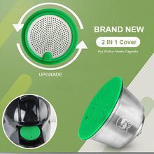 ICafilasUpdate wersja pokrywa ze stali nierdzewnej Rusable dla kapsułka kawy Dolce Gusto fit Nescafe z filtrem ziemi cheap i Cafilas CN (pochodzenie) Z tworzywa sztucznego Wielokrotnego użytku Filtry Coffee Capsule Coffee Filter