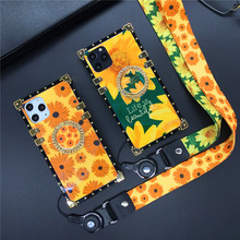 Luxury Vintage SunFlower Square Cover Flower Case for