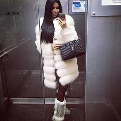 Новое поступление длинное теплое пальто из искусственного меха белое леопардовое высококачественное вечернее длинное женское пальто