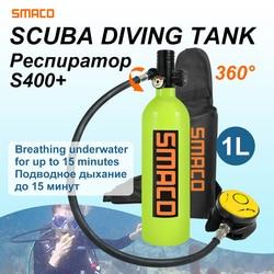 SMACO Diving Equipment Mini Scuba Diving Cylinder Scuba Oxygen Tank S400+ diving tank snorkeling plongee buceo scuba tank 1L