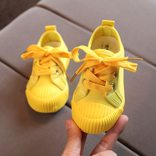 Shoes Sneakers Kids Footwear Toddler Boys Canvas Yellow Baby Bright Girls New Zapato