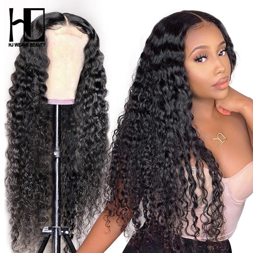 Onda profunda encerramento peruca brasileira jerry encaracolado frente do laço perucas de cabelo humano para as mulheres pré arrancadas com o cabelo do bebê glueless 30 Polegada peruca