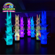 Commercial advertising inflatable led pillar,party inflatable lighted bamboo pub bar street decoration цены онлайн