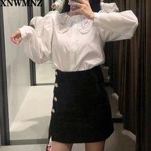 Xnwmnz za 2020 женская рубашка с вышитым воротником женские
