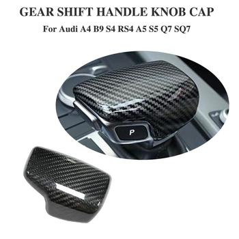 LHD Real Carbon Fiber For AUDI A4 S4 RS4 B9 A5 S5 RS5 Q5 Q7 2016 2017 2018 2019 TT Car Styling Gear Shift Knob Head Cover Trim