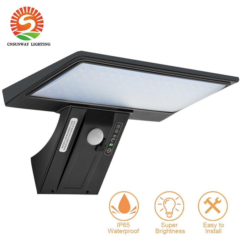 Outdoor Solar Lights Motion Sensor 90LEDs Solar Powered Exterior Security Lights Waterproof Flood Lighting 4000K Soft White