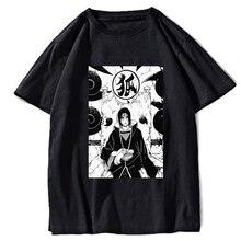 2020  Hip Hop T Shirt Japanese Harajuku anime  itachi T-Shirt Streetwear Summer Tops Tees Cotton Tshirt Oversized HipHop