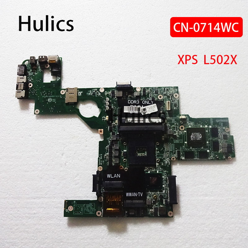 Hulics оригинальный CN-0714WC 714WC 0714WC DAGM6CMB8D0 материнская плата для ноутбука Dell XPS L502X основная плата HM67 GT 540M 2GB системная плата
