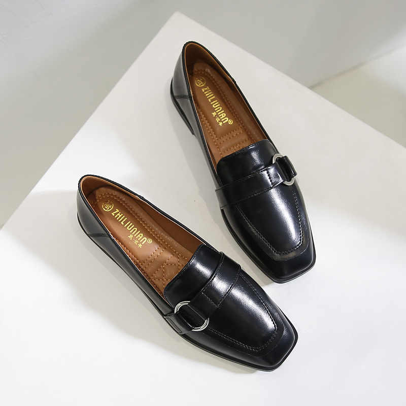 Size Lớn 43 Mùa Xuân Nữ Giày Oxford Thoải Mái Vuông Ngón Chân Đế Giày Casual Nữ Giày Công Sở Mocassins Zapatos De Mujer JJ25