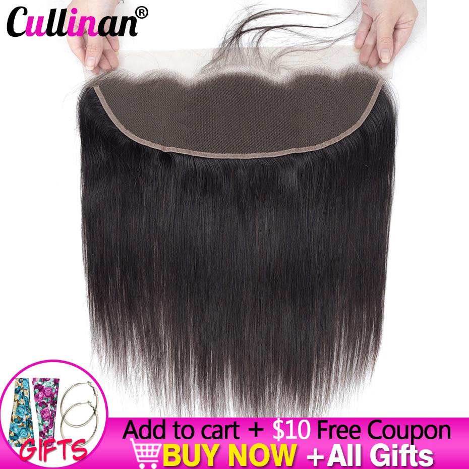 Перуанские прямые фронтальные волосы 13x4 на сетке, закрывающие человеческие волосы, предварительно выщипанные волосы с Baby Hair Cullinan Remy естест...
