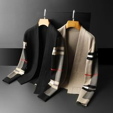 Fashion men's T-shirt sweater casual cardigan Europe station men's sweater slim fit versatile coat
