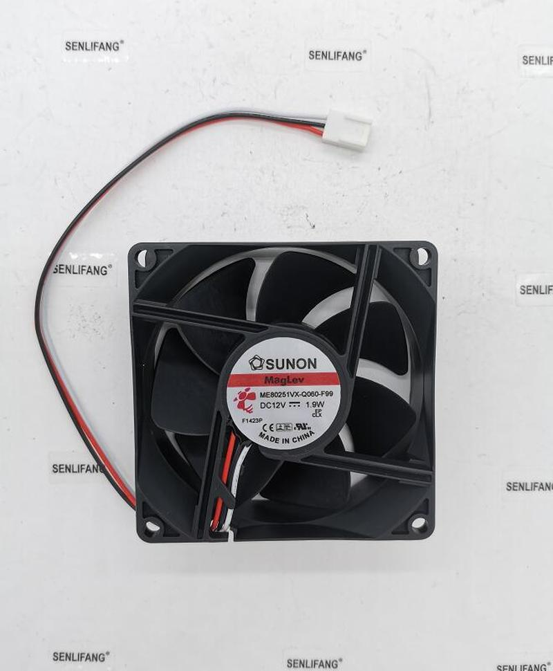 NEW ME80251VX-Q060-F99 DC 12V 1.9W 8025 80x80x25mm 3-line 8CM Cooling Fan Free Shipping