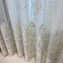 Sheer Curtains Bedroom Living-Room Embroidered European-Villa Lace Home-Decor Luxury