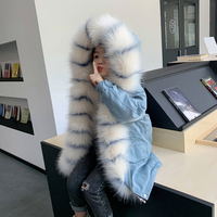 Kids Winter Coats With Fur 2019 Winter Imitate Fox Fur Inner Tank Removable Cap Coat Long Winter Coats For Teenage Girls Parka