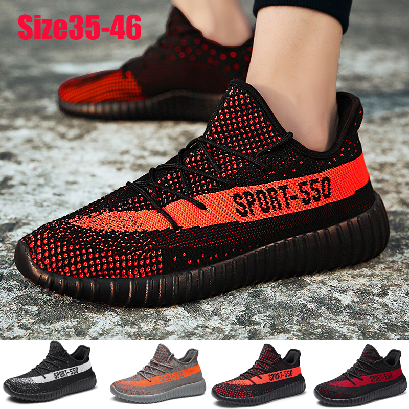 Men Women Sneakers Breathable Fashion Casual Shoes Running Jogging Shoes Size 35-46