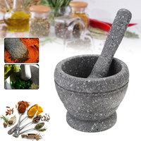 Multifunctional Resin Mortar Pestle Set Shredder Spices Crusher Grater Garlic Grinder Kitchen Tool Mills Mills     -