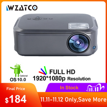 WZATCO CT58 Full HD 1920*1080P Suport AC3 4K Online Video Android 10 Wifi Smart  Video LED Projector Proyector For Home Theater