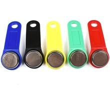 5 unids/lote llave de memoria táctil RFID regrabable, botón RW1990, tarjeta de copia, llave de Sauna