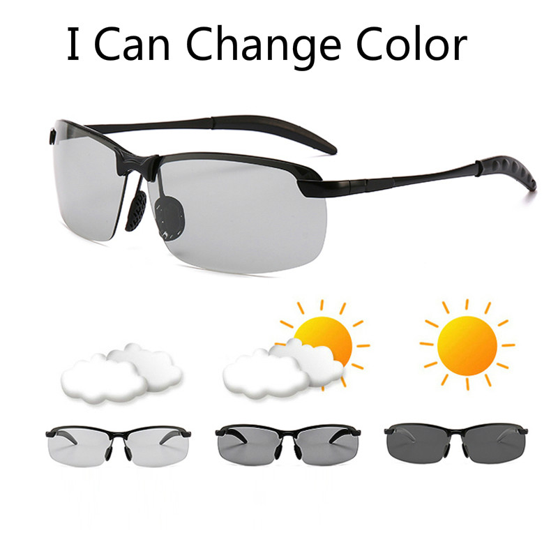 Photochromic Sunglasses Men Polarized driving Chameleon Glasses Male Change Color SunGlasses Day Night Vision Driving Eyewear in Men 39 s Sunglasses from Apparel Accessories