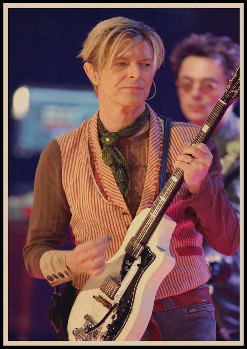 Rock Britannico Cantante David Bowie Retro Vintage Rock Musica Kraft Manifesti di Carta Autoadesivi Della Parete Cafe Bar Decorazione Della Stanza Della Decorazione Della Parete 4