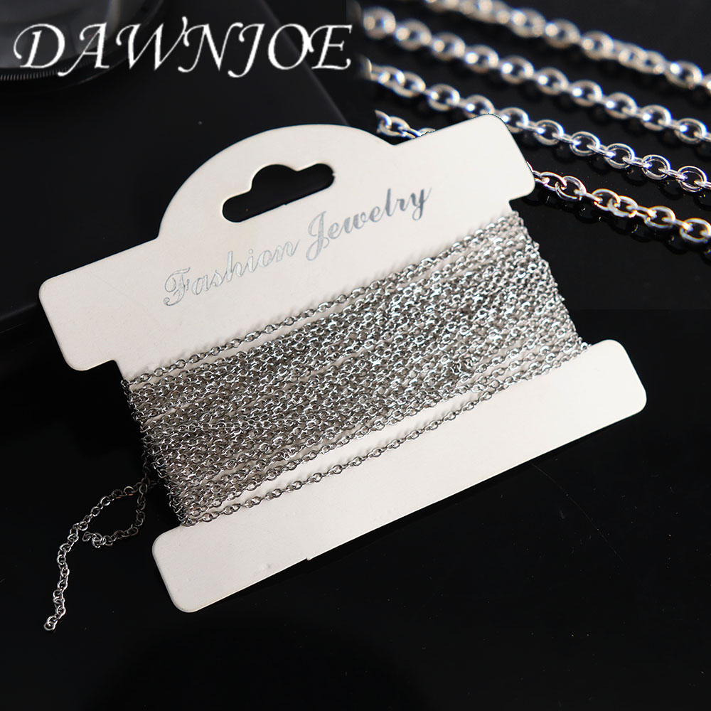 10m/roll 1.5mm High Quality Stainless steel cross chain DIY Making Necklaces Bracelet Jewelry Supplies Finding