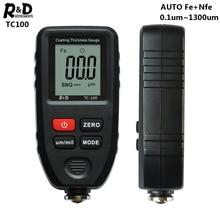 R & D TC100 ציפוי עובי מד צבע מכונית סרט עובי Tester מדידת FE/NFE רוסית ידנית צבע כלי שחור