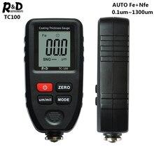 R & D TC100 di Spessore di Rivestimento del Calibro di Automobile Pellicola di Vernice di Spessore Tester di Misura FE/NFE Russo Manuale Strumento di Disegno nero