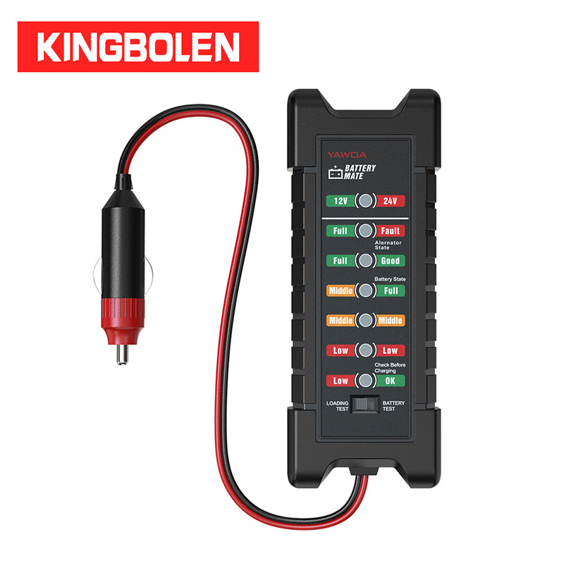 12V Car Battery Tester 6 LED Lights Digital Alternator Tester Auto Load Analyzer