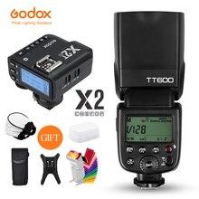 Godox TT600 2,4G Беспроводная вспышка для камеры Speedlite + передатчик X2T беспроводной триггер для вспышки для Canon Nikon Fujifilm Sony Olympus