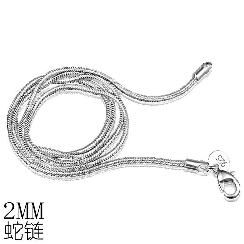 Steampunk 925 joyería de plata de ley collares grandes de moda 2019 cadenas finas de serpiente sello Collar de plata cadena de las mujeres niñas