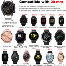 20mm Huawei Leather Strap Watchband For Samsung Galaxy Watch4 40 44mm/Watch 4 Classic 42 46mm Original Wristbands Bracelet Belt