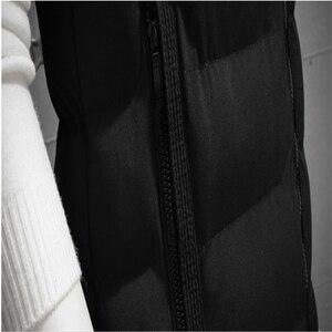 Image 5 - الشتاء حجم كبير مقنعين الشتاء سترة للرجال جاكيت بلا إكمام معاطف عادية الدافئة مبطن الرجال أسفل صدرية 6XL 7XL 8XL YT50164