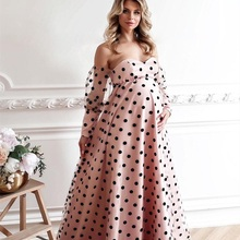 Pink Pregnant Sleepwear Women Black Dot Bathrobe Wedding Bridal Robe Customize Nightgown Maternity Pajamas