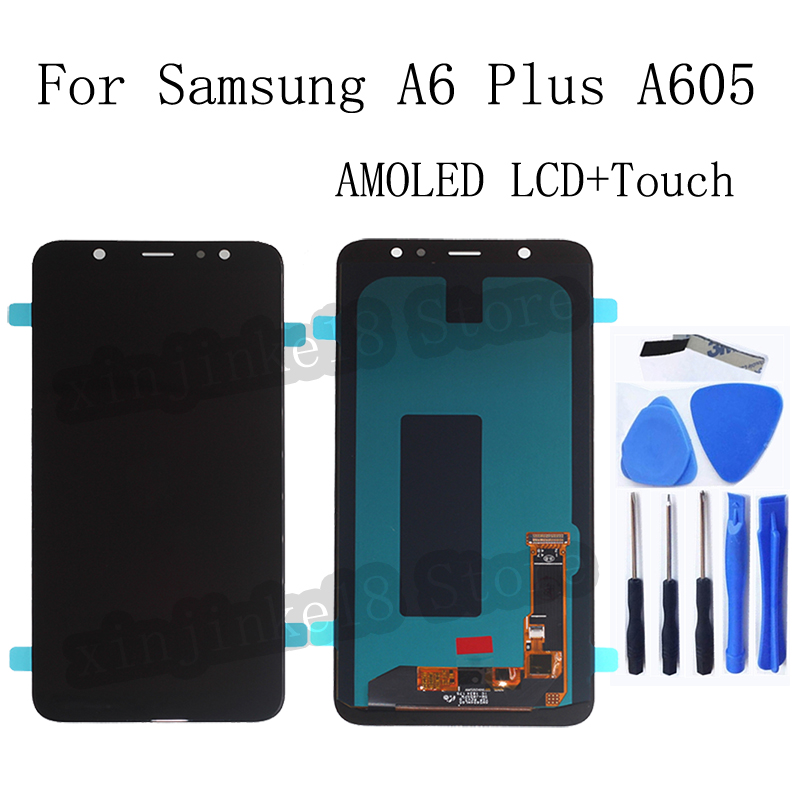 AMOLED For <font><b>Samsung</b></font> <font><b>Galaxy</b></font> <font><b>A6</b></font> Plus <font><b>A6</b></font>+ A605 SM-A605F LCD <font><b>Display</b></font> Touch Screen digitizer Assembly A605FN A605G A605GN Replacement image