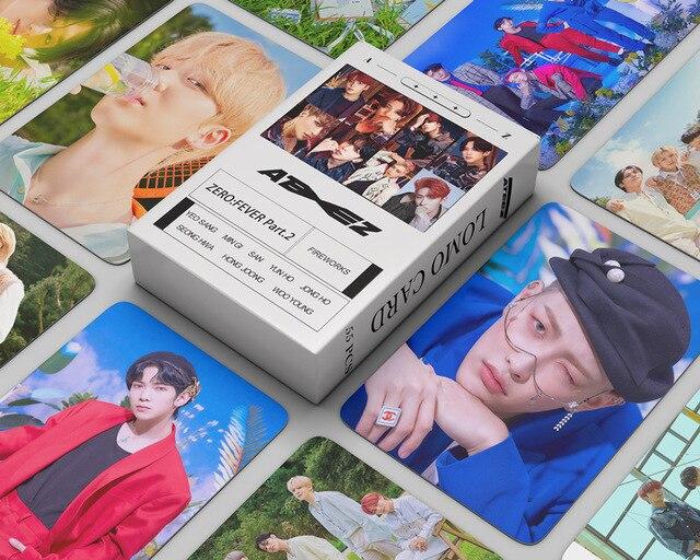 55pcs/set ATEEZ Lomo Cards Photo Album ZERO : FEVER Part.2  2