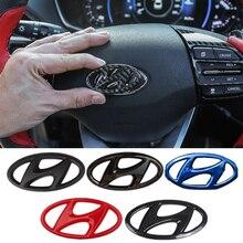 Auto Lenkrad Emblem Aufkleber für 2021 Neue Hyundai Fit für Hyundai 2021 Elantra