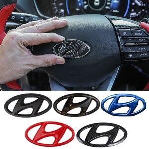 Image 1 - Car Steering Wheel Emblem Sticker for 2021 New Hyundai Fit for Hyundai 2021 Elantra