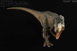 Image 4 - REBOR 1/35 Paleontologia Tyrannosaurus Rex T Rex Killer Queen Dinosauro Modello Animale Giocattolo Decorazione