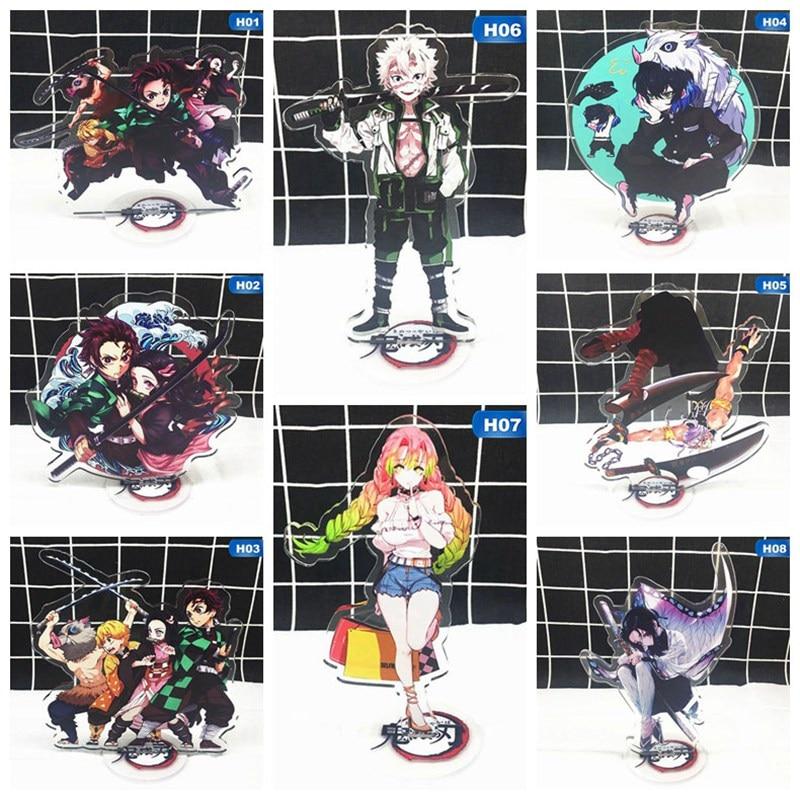 Demon Slayer Kimetsu No Yaiba Tanjirou Nezuko Acrylic Stand Figure Model Double-side Stand Model Decoration Toys Gifts