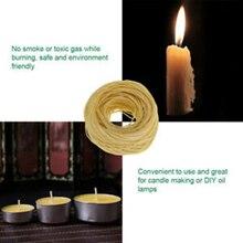 1 рулон катушки пчелиного воска пеньковая свеча фитили ядро свечи DIY инструмент для изготовления 61 м* 1,2 мм