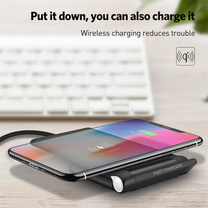 Image 4 - 15W szybka bezprzewodowa podkładka ładująca składany 10W Qi ładowania stojak na iPhonea 11 Pro Max XS XR X 8 Samsung S10 S9 s8 Plus uwaga 10 9