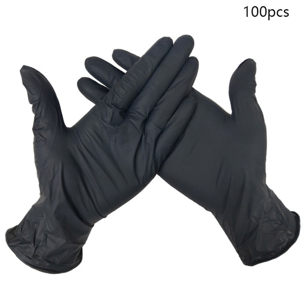 100PCS Wear Resistance Nitrile Disposable Gloves Food Testing Household Cleaning Washing Gloves Anti-Static Gloves